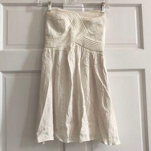 Cream strapless mini dress